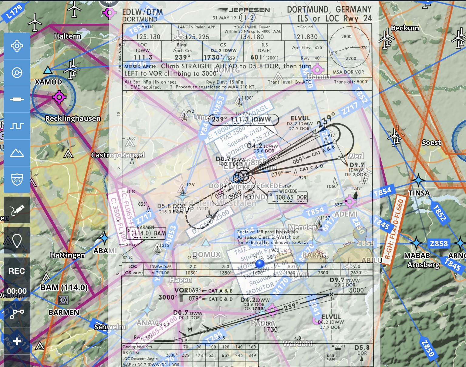 Copyright for Screenshot: Jeppesen and Foreflight